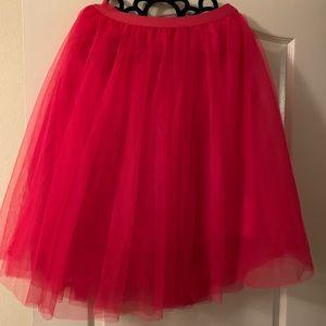Hot Pink Ballerina Tulle Skirt